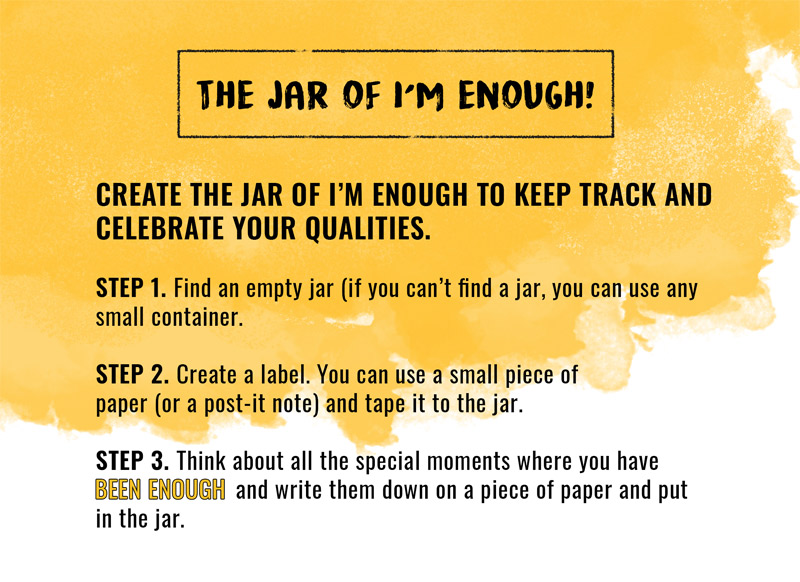 the jar of I'm Enough